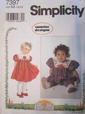 7397 Simplicity Pattern Girls Dress  SEWING UNCUT
