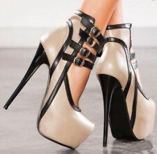 Womens Punk Sexy Super High Stiletto Heels Sandals Platform Pumps Party Shoes