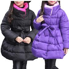 Sexy Infantil Niña Abrigo Chaqueta Cálido de Invierno Nieve Acolchado Princesa