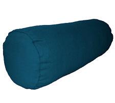 aa201g Dark Turquoise Blue Cotton Canvas Bolster Cushion Cover Yoga Case Custom