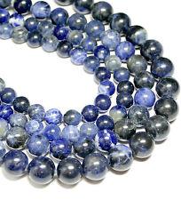 Sodalith Kugel Perle Blautöne glanz 2 - 16 mm, 1 Strang BACATUS Edelstein #4393