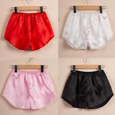 Women Satin Silk Pajama Shorts Loose Home Wear Pants Summer Underwear Cosy US