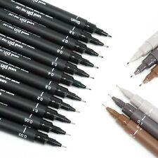 Uni Pin Fine Liner Pen Pigment Marker Waterproof Ink - 0.03mm - 0.8mm - Brush