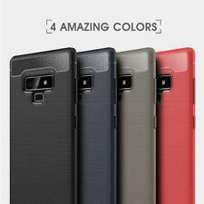 Para Samsung Galaxy 9 Nuevo Negro Azul Claro Note De Fibra De Carbono Gel Funda De Teléfono