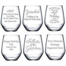 Personalised Engraved Whisky Whiskey Spirit Glass Tumbler Birthday Christmas