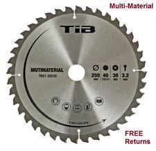 TCT Circular Saw Blade 250mm Bore 30mm 40 Teeth for Aluminium Wood Cutting