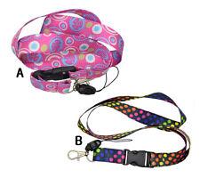 """Fashion Lanyard """"Polka Dot"""" Key Chain  Ring Cellphone & ID Holder Lanyard"""