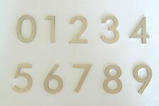 EDELSTAHL ZAHLEN ZIFFER 2mm stark, von 0 bis 9,Höhe 44mm,mit Selbstklebestreifen