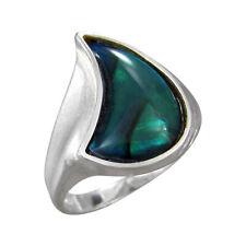 Schmuck-Michel Ring Silber 925 Paua-Muschel - Abalone Gr. 50-65 wählbar (1370)