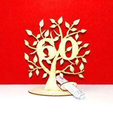 Geldgeschenk zum Geburtstag,40 50 60 70 80 90 Holz 16cm Hoch Lebensbaum graviert