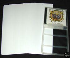 "(300) CDNS13WH40 White CD Long Box Divider Bin Cards Heavy Duty 6""x13.5"" 40 Mil"