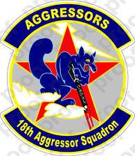 STICKER USAF 18TH AGGRESSOR SQUADRON