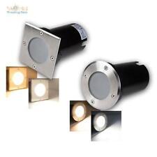 """LED Luce da pavimento """"BEL Tinta unita R/Q"""", 3/5/7W, Faretto terra 230V"""