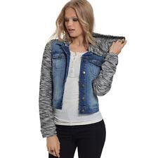Jessica Simpson Womens Pixie Denim Jean Vest Removable Hoodie Jacket Coat NWT