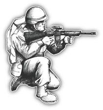 Soldier Sketch Car Bumper Sticker Decal  -  ''SIZES''