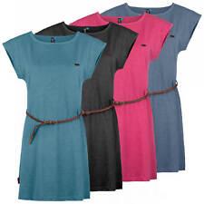 ALIFE AND KICKIN Shirtkleid Kleid Sweatkleid meliert abnehmbarer Flechtgürtel
