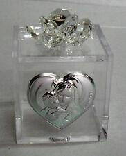 Bomboniere Scatolina con cristallo swarovski battesimo nascita comunione Vari