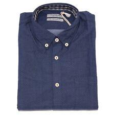 7518K camicia uomo FRED MELLO blue cotton shirt man