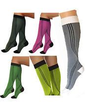élastique sport U de compression bas chaussettes bas à genou 0401