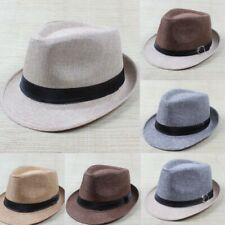 Fashion Men Women Unisex Summer Beach Sun Hat Jazz Panama Hat Trilby Fedora Cap