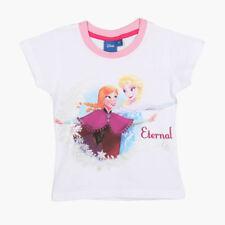 DISNEY t-shirt LA REINE DES NEIGES 2 ou 3 ans  blanc Anna Elsa  NEUF