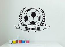 Wandaufkleber: Fußball + Wunschtext Junge Name Aufklebe Kinderzimmer WandTattoo