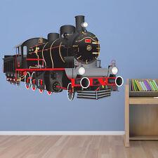 Black Steam Train Wall Sticker Classic Train Wall Decal Boys Bedroom Home Decor