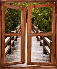 Adesivi finestra inganna l'occhio decocrazione Tramonto de sole Gateway ref 5206