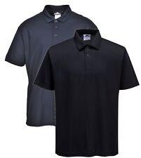 Portwest B185 black or navy mens work short Terni polo shirt size S-3XL