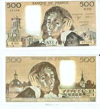 Gertbrolen 500 FRANCS PASCAL du 1-2-1990    R. 312 Billet Numéro  779147409