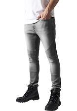 URBAN Classics Jeans Biker Jeans Pantaloni Slim Grey
