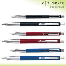 1X Parker Vector Standard Penna A Sfera Cromo Acciaio Inox Blu/Nero / Rosso