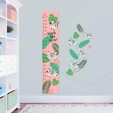 Personalised Measure Height Chart Cute Zebras Africa + 8 Vinyl Wall Sticker