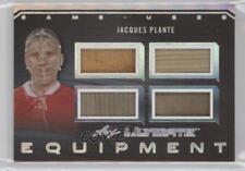 2017-18 Leaf Ultimate Equipment Silver Spectrum Foil #UE-07 Jacques Plante Card