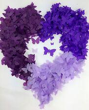 Mariposa Púrpura Confeti Biodegradable LILA UVA hecho a mano llenar de 10 CONOS