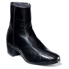 Mens Florsheim Duke dress boot Leather zipper High Cuban Heel 17087-01 black