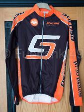Alexa surosa manga larga maillot de Ciclismo Chaqueta Full Zip - Naranja / Negro