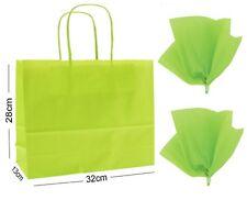 vert citron Paysage Grand papier Fête Sac cadeau ~ boutique magasin Sac & tissu