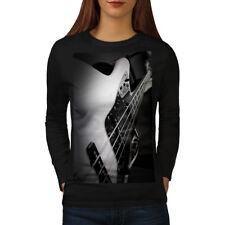 Bass Guitar Jazz Music Women Long Sleeve T-shirt NEW | Wellcoda