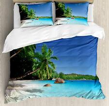 Island Duvet Cover Set with Pillow Shams Sunny Horizon of Prislin Print
