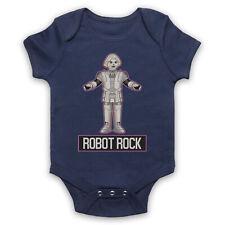 Robot Rock Rétro Sci Fi Dance Parodie Slogan Old School Baby Grow Douche Cadeau