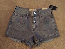 """Hollister corto gris corto de gran altura 2"""" desde Entrepierna Pantalones cortos de mezclilla envejecido! nuevo!"""