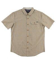 O'Neill Emporium Check S/S Classic Fit Button Front Woven Shirt Sz Medium