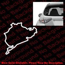 RACING NURBURGRING Sport Vinyl Window Decal Europe GERMANY BMW BENZ AUDI RC078