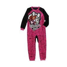 New Girls' Monster High Onesie One Piece PJ Pajamas SZ 4-5 6-6X 7-8 10-12