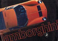 Lamborghini 1970-71 Italian Market Foldout Sales Brochure Miura Jarama Espada