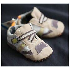 SALE LAST FEW Baby Boys Brown Toned Z-Strap Boys Sneaker Shoes Size 2/4