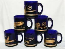 BOEING 747/57/67/67F/77 AWACS Cobalt Blue & Gold Heavy Thick Mug USA NEW U-Pick