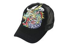 Baseball Trucker Caps Mesh Cap Classic krone black monster Drache