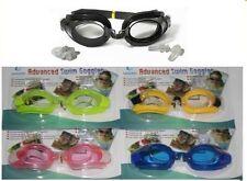 ANTISCIVOLO REGOLABILE anticipo Nuoto Occhiali con ear-plug & nose-clip FOR KIDS